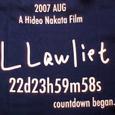 スピンオフ『L』(仮)Tシャツ(背面B)